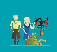 #3 Daenerys, Jorah and the dragons by LoriLoriLori