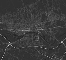 Zagreb, Croatia Map. (White on black) by Graphical-Maps