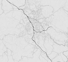 Liberec, Czech Republic Map. (Black on white) by Graphical-Maps