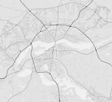 Silkeborg, Denmark Map. (Black on white) by Graphical-Maps