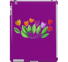 Seven colorful tulips iPad Case/Skin