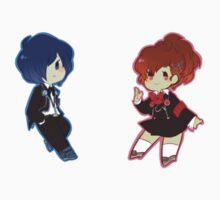 Persona 3 Male and Female Protagonists by toifshi