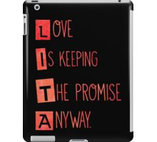 Keeping the promise  iPad Case/Skin