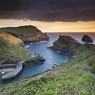Cornwall - Boscastle Sunset by Angie Latham