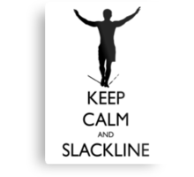 Keep Calm and Slackline Metal Print