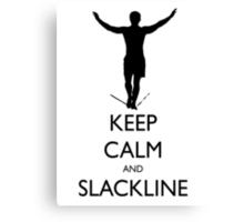 Keep Calm and Slackline Canvas Print