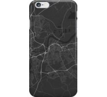 Middlesbrough, England Map. (White on black) iPhone Case/Skin