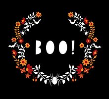 Boo! Halloween Spiders & Bats by KellyJane