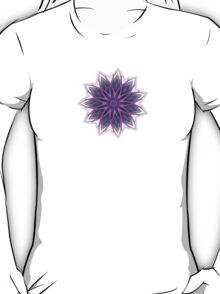 Fractal Flower - Purple T-Shirt