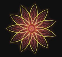 Fractal Flower - Red  by Leah McNeir