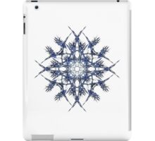 Barbed Blue - Fractal Art design iPad Case/Skin