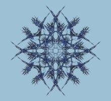Barbed Blue - Fractal Art design Kids Clothes