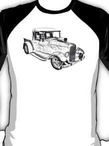 Model A Ford Pickup Hot Rod Illustration T-Shirt