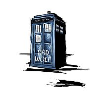 Bad Wolf Tardis Photographic Print