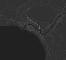 Pärnu, Estonia Map. (White on black) by Graphical-Maps