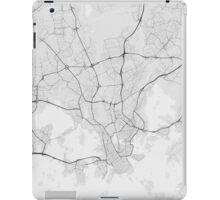 Helsinki, Finland Map. (Black on white) iPad Case/Skin