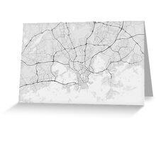 Helsinki, Finland Map. (Black on white) Greeting Card