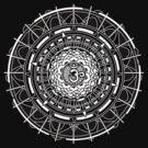 Mandala Om (white) by Leah McNeir
