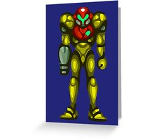 Super Samus Aran Greeting Card
