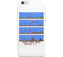 SUPER MARIO BROS - World 1-1 iPhone Case/Skin