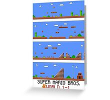 SUPER MARIO BROS - World 1-1 Greeting Card