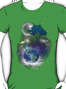 Cosmic geometric peace T-Shirt