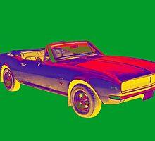 1967 Convertible Camaro Muscle Car Pop Art by KWJphotoart