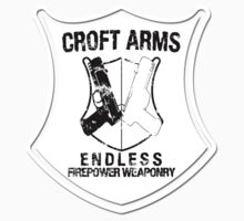 Croft Arms - Black - Sticker by JohnLucke