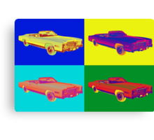 1975 Cadillac El Dorado Convertible Pop Art Canvas Print
