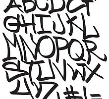 Alphabet Graffiti Font by Maestro Hazer