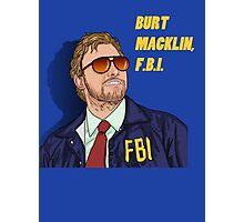 BURT MACKLIN, FBI Photographic Print