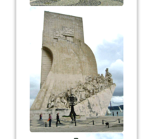 COLLAGE OF THE DISCOVERIES MONUMENT-LISBON,PORTUGAL Sticker