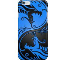 Yin Yang Dragons Blue and Black iPhone Case/Skin