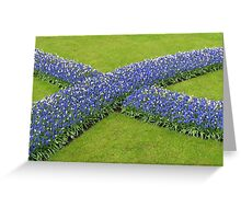 The Big Blue X - Keukenhof Gardens Greeting Card