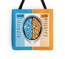 Human brain left and right functions Tote Bag