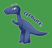 Blue T-Rex Kids Clothes