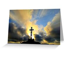 Easter Cross ~ digital paint effect Greeting Card