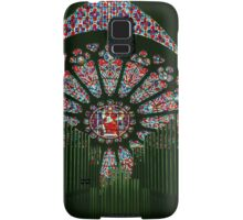 Rose window through Organ Pipes Cathedral Soissons France 198405070013 Samsung Galaxy Case/Skin