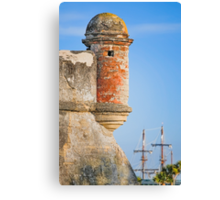 Spanish Fort and Galleon Canvas Print