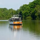 Boat On The White River by WildestArt
