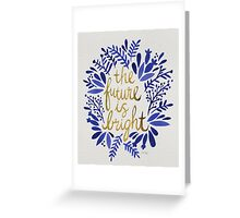 The Future is Bright – Navy & Gold Greeting Card