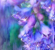 Delphinium Abstract by Carol  Cavalaris