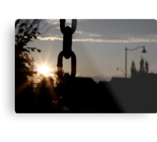 Sunsets and Swings Metal Print