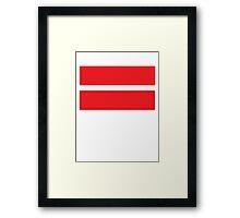Equality (Red) Framed Print