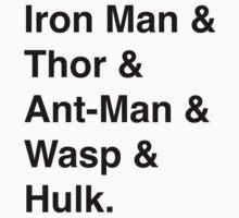 Original Avengers (Black) by esibreeze