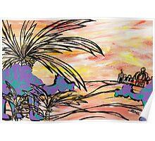 Oasis Camels Poster