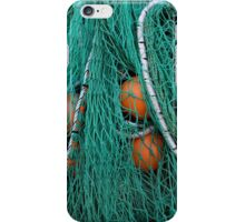 Fishermen's nets and buoys on Lyme Regis harbour iPhone Case/Skin