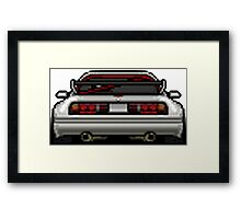 Pixel Cars - Mazda RX7 widebody Framed Print