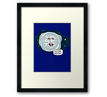The mighty Boosh - I'm the moon Framed Print