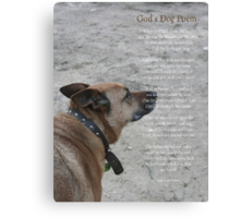 God's Dog Poem Canvas Print